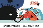 fight with coronavirus concept. ... | Shutterstock .eps vector #1685024455