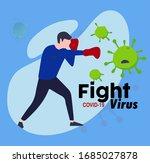 corona virus post for... | Shutterstock . vector #1685027878