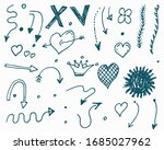 Big Set Of Doodle Vector Arrow...