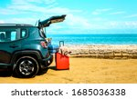 Summer Car On Beach And Free...