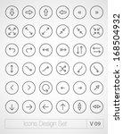 vector thin icons design set.... | Shutterstock .eps vector #168504932