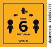 social distancing warning sign. ...   Shutterstock .eps vector #1685051398