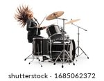 Female Drummer Playing The...