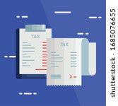 tax day poster with voucher... | Shutterstock .eps vector #1685076655
