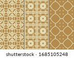 set of seamless patterns.... | Shutterstock .eps vector #1685105248