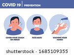covid19 pandemic prevention... | Shutterstock .eps vector #1685109355