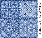 antique azulejo tiles patchwork.... | Shutterstock .eps vector #1685126035