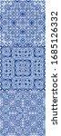 antique portuguese azulejo... | Shutterstock .eps vector #1685126332