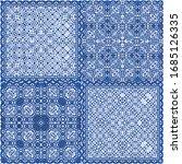 antique portuguese azulejo... | Shutterstock .eps vector #1685126335