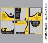editable minimum square banner... | Shutterstock .eps vector #1685126518