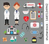 medical vector image package... | Shutterstock .eps vector #1685134942