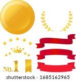 gold medal and laurel... | Shutterstock .eps vector #1685162965