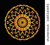 mandala graphic design for art  ... | Shutterstock .eps vector #1685165692