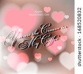 happy valentine's day hand...   Shutterstock .eps vector #168520832