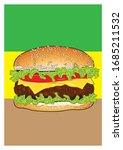 solated hamburger vector... | Shutterstock .eps vector #1685211532