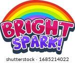 font design for word bright... | Shutterstock .eps vector #1685214022