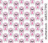 seamless pattern lion cartoon ...   Shutterstock .eps vector #1685217592