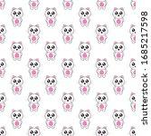 seamless pattern cat cartoon ...   Shutterstock .eps vector #1685217598