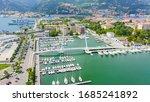 La Spezia, Italy. Bridge Thaon di Revel. View from above, Aerial View   - stock photo