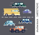 urban traffic concept. cars... | Shutterstock .eps vector #1685276242