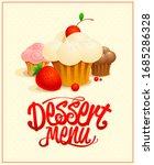dessert menu cover design with... | Shutterstock . vector #1685286328