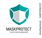 shield with mask vector logo... | Shutterstock .eps vector #1685306215