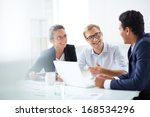 portrait of smart business... | Shutterstock . vector #168534296
