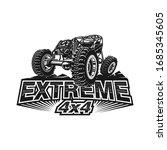 offroad car logo tubular...   Shutterstock .eps vector #1685345605