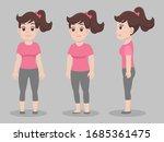 set of character woman cartoon...   Shutterstock .eps vector #1685361475