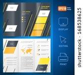 brochure design template vector ... | Shutterstock .eps vector #168538625