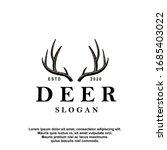 Deer Antler Ilustration Logo...