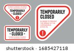temporarily closed sign of... | Shutterstock .eps vector #1685427118