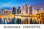 dubai city skyline panorama at... | Shutterstock . vector #1685429752