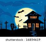 halloween night theme | Shutterstock .eps vector #16854619