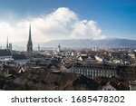 The cityscape of zurich...