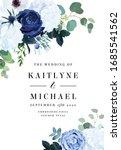 classic blue rose  white... | Shutterstock .eps vector #1685541562