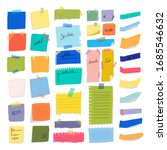 colorful paper on wall glued... | Shutterstock .eps vector #1685546632