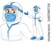 medical staff with personal...   Shutterstock .eps vector #1685580718
