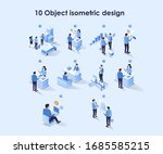 concept flat isometric... | Shutterstock .eps vector #1685585215