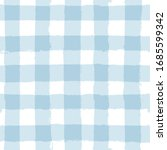blue gingham seamless pattern.... | Shutterstock .eps vector #1685599342
