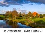 Farm house at spring village...