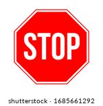 stop sign vector illustration... | Shutterstock .eps vector #1685661292