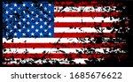 us america flag rustic grunge... | Shutterstock .eps vector #1685676622