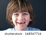Portrait Of A Smiling Toothles...