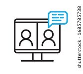 video conference icon. people... | Shutterstock .eps vector #1685785738