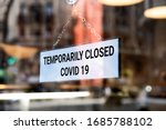 Store sign  temporarily closed. ...