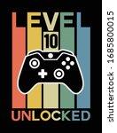 game level unlocked. joystick....   Shutterstock .eps vector #1685800015