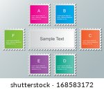 set of colorful stamp