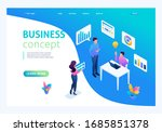 isometric concept we bring the...   Shutterstock .eps vector #1685851378