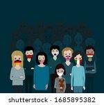 global pandemic crisis.people... | Shutterstock .eps vector #1685895382